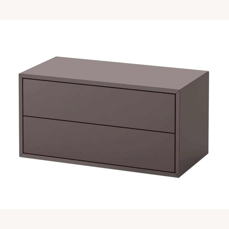 IKEA Eket 2 Drawer Gray Cabinets - Set of 2 - image-2