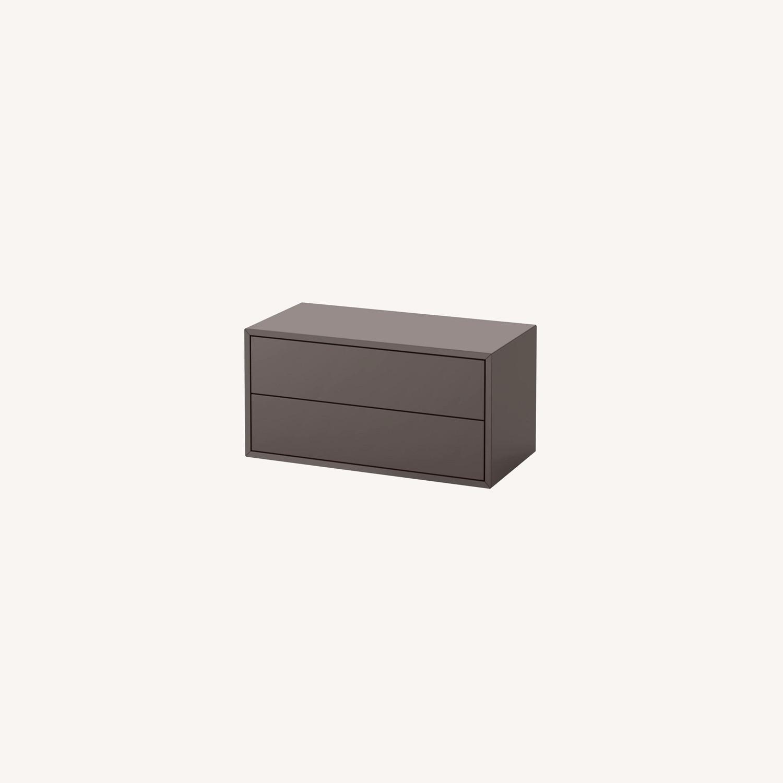 IKEA Eket 2 Drawer Gray Cabinets - Set of 2 - image-0