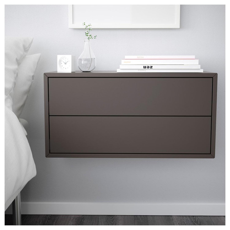 IKEA Eket 2 Drawer Gray Cabinets - Set of 2 - image-1