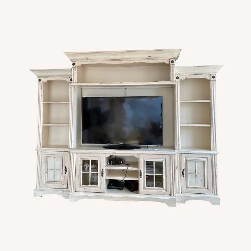 Used RC Willey Antique White Entertainment Center for sale on AptDeco