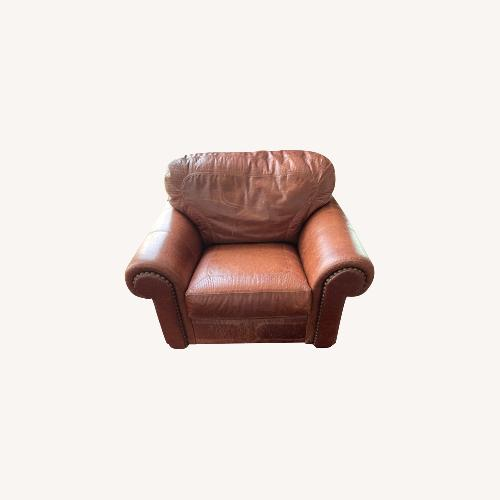 Used Santa fe Leather Arm Chair for sale on AptDeco