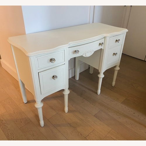Used Vintage Desk - White painted for sale on AptDeco
