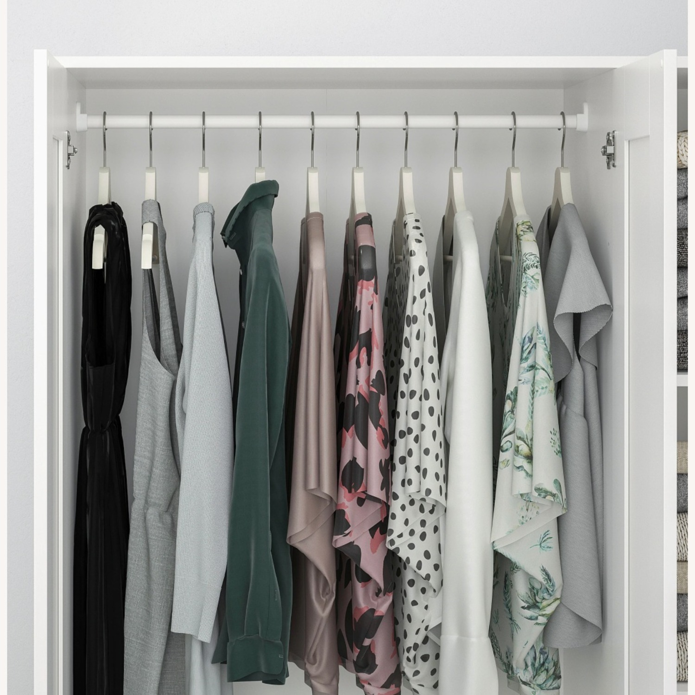 IKEA BRIMNES 3 Door Wardrobe White - image-3