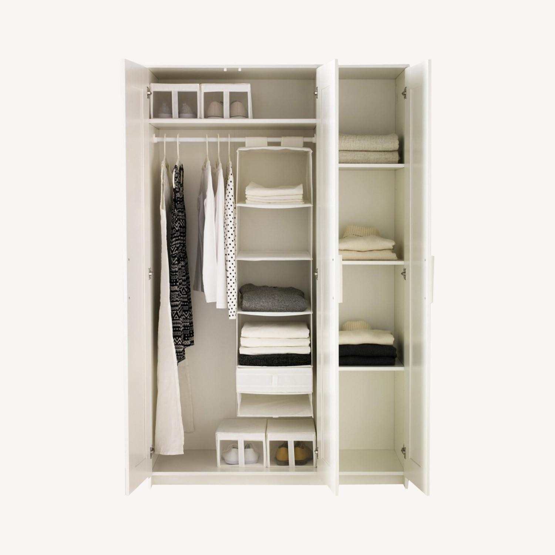 IKEA BRIMNES 3 Door Wardrobe White - image-0