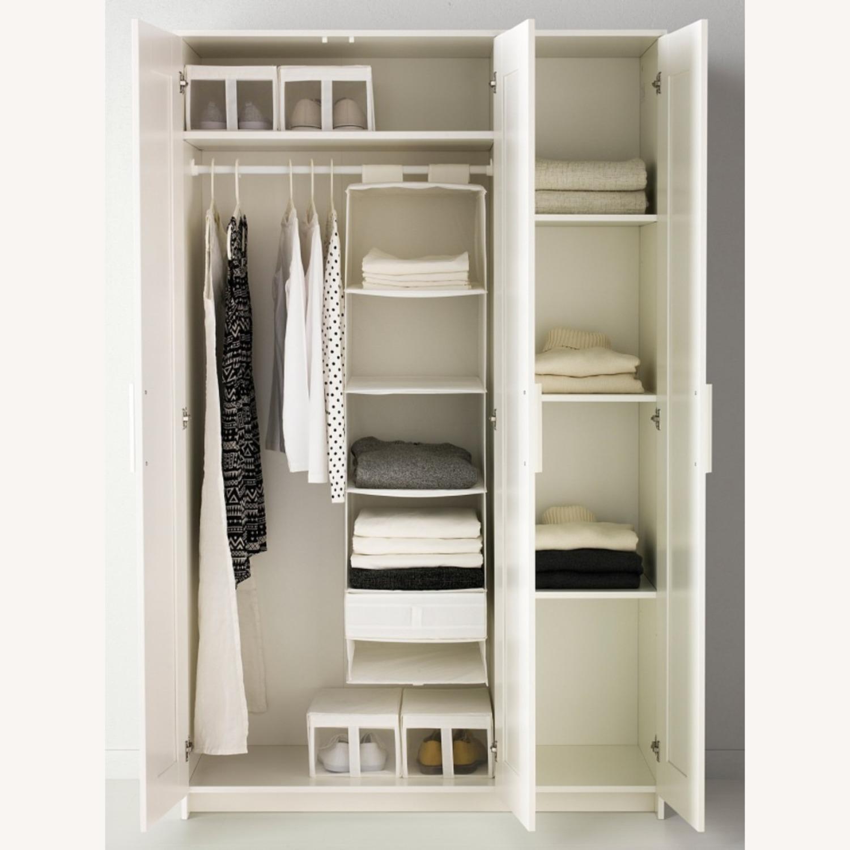 IKEA BRIMNES 3 Door Wardrobe White - image-2