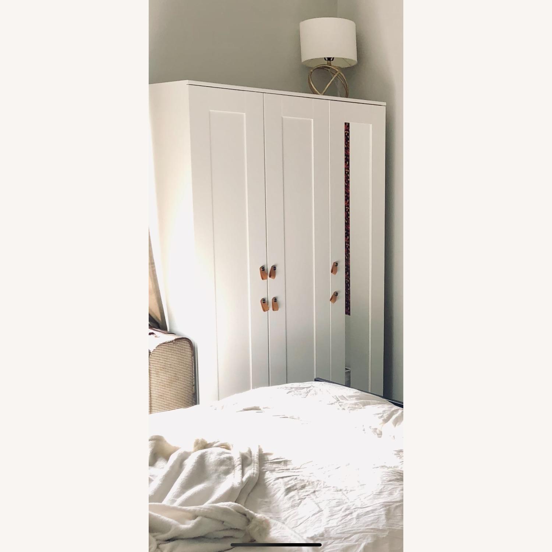 IKEA BRIMNES 3 Door Wardrobe White - image-1