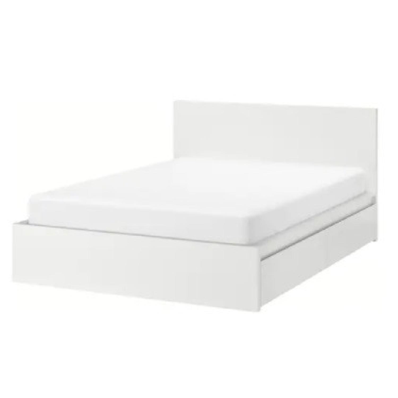 IKEA Malm High White Bed Frame - image-8