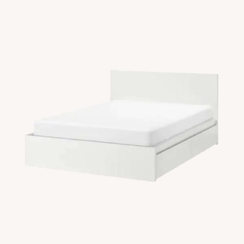 IKEA Malm High White Bed Frame - image-0