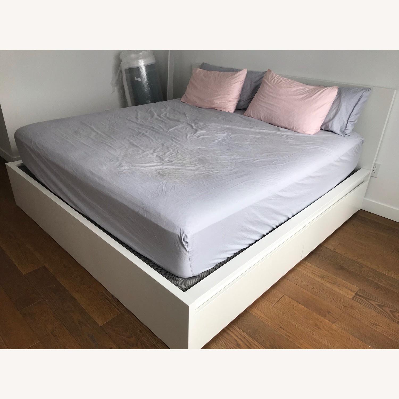 IKEA Malm High White Bed Frame - image-5
