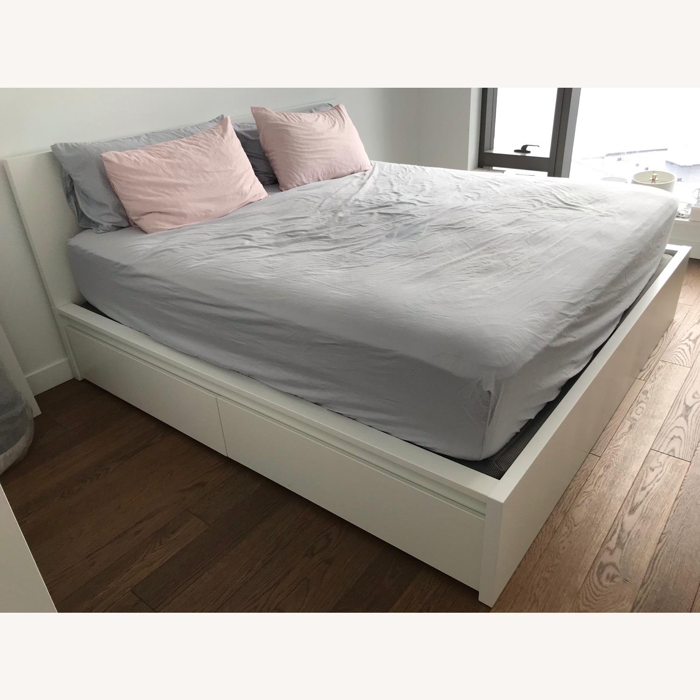 IKEA Malm High White Bed Frame - image-1