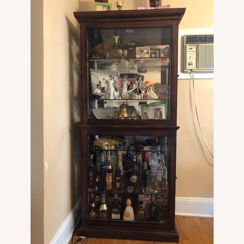 Used Wood and Glass Display Cabinet for sale on AptDeco