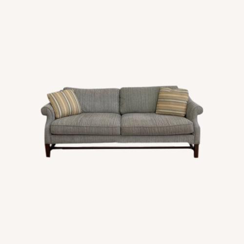 Used Sofa with Pillows Grey White Blue Blend for sale on AptDeco