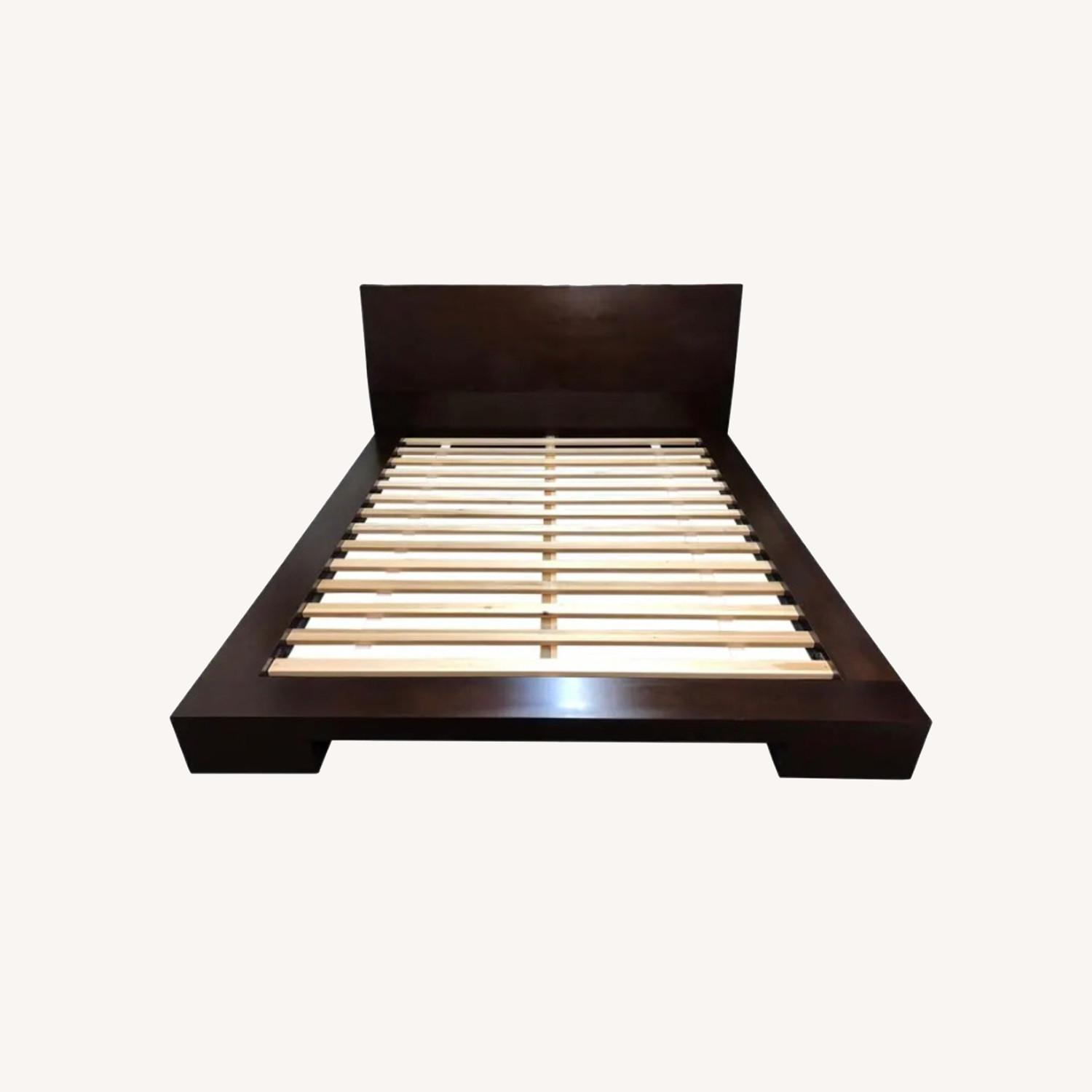 Crate and Barrel Queen Asher Bed - image-0