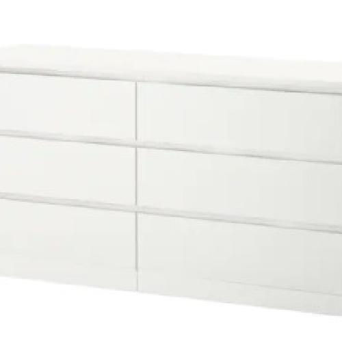 Used IKEA White Six Drawer Dresser for sale on AptDeco