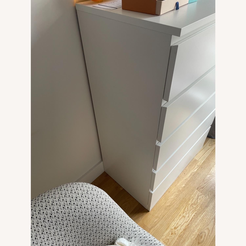 IKEA White Malm 6 Drawer Dresser - image-5