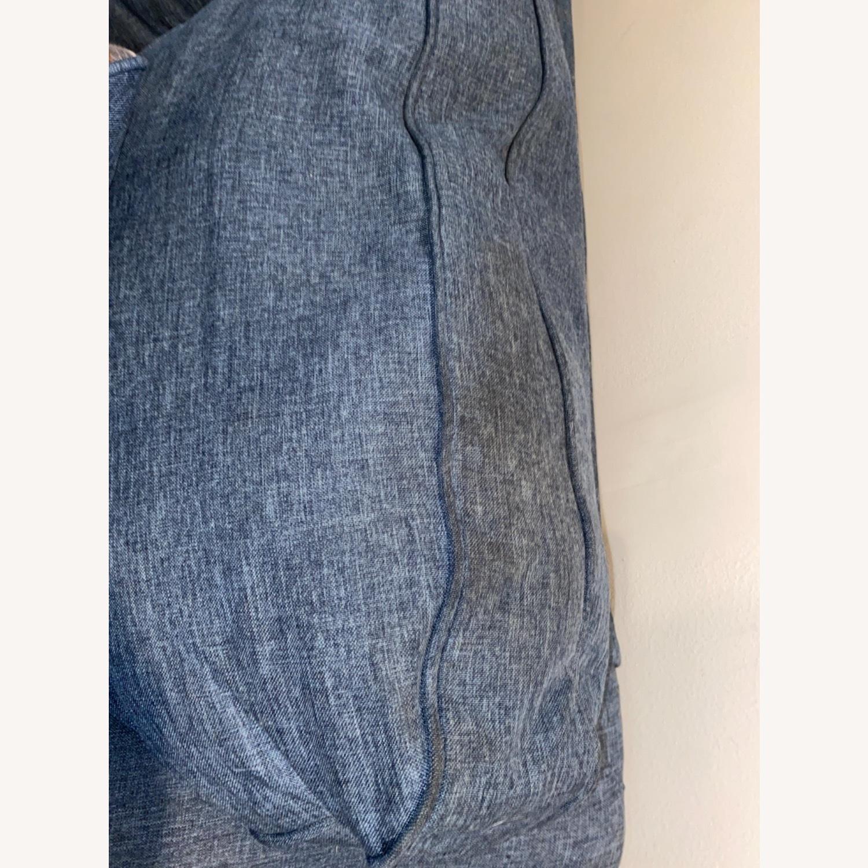 Blue Sofa with Original Accent Pillows - image-4