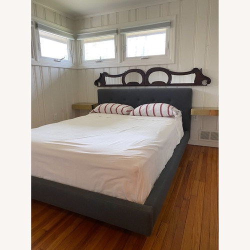 Used Crate & Barrel Tate Queen Bed for sale on AptDeco