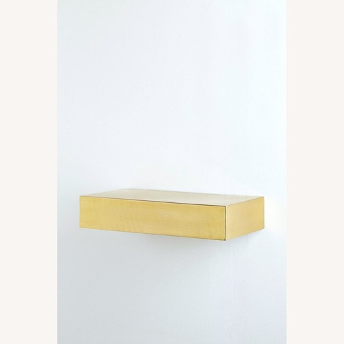 Used Floating Brass Shelves for sale on AptDeco