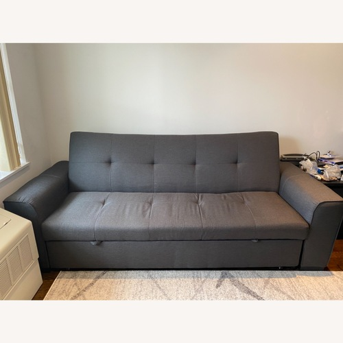 Used Furniture of America Dark Grey Sleeper Sofa for sale on AptDeco