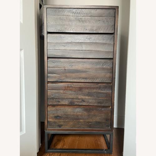 Used West Elm Logan Industrial 5-Drawer Dresser for sale on AptDeco