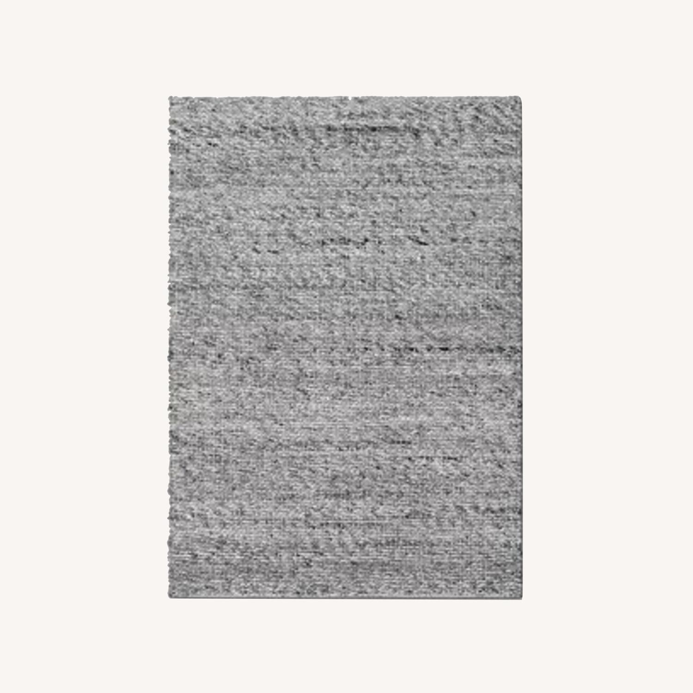Target Gray Chunky Knit Wool Woven Rug - image-0