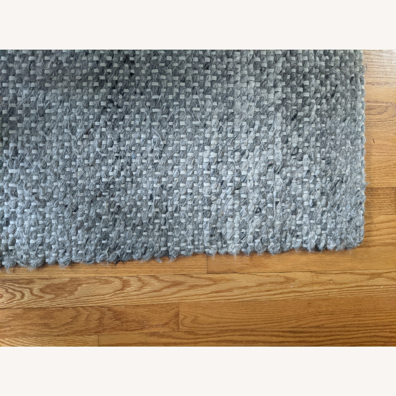 Target Gray Chunky Knit Wool Woven Rug - image-5