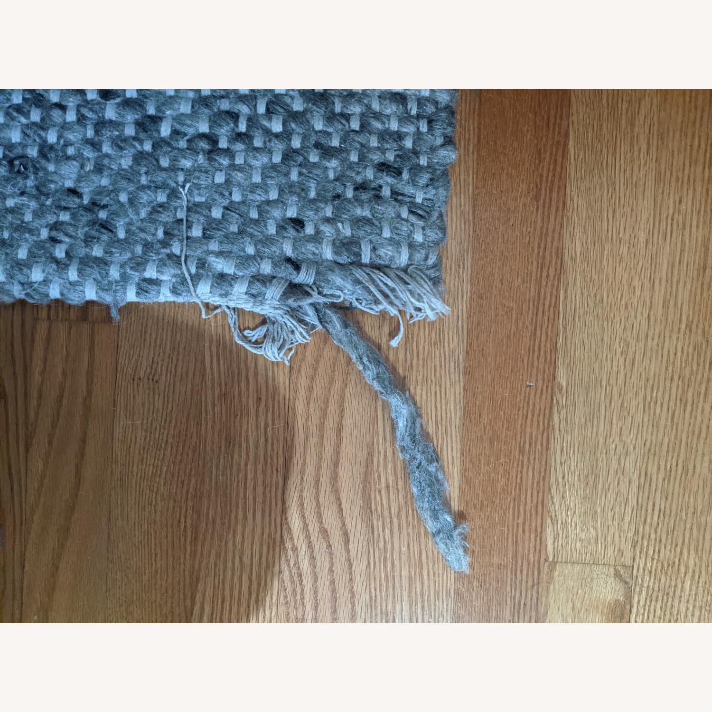 Target Gray Chunky Knit Wool Woven Rug - image-3
