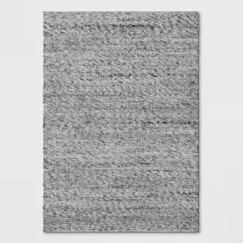 Used Target Gray Chunky Knit Wool Woven Rug for sale on AptDeco