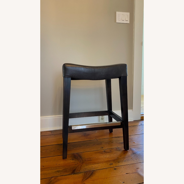 Bassett Leather Stool - image-1