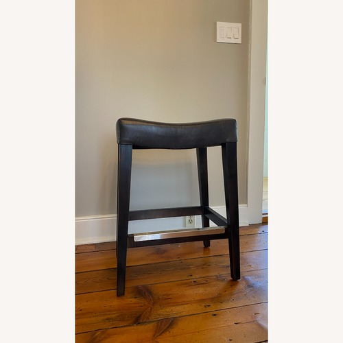 Used Bassett Leather Stool for sale on AptDeco