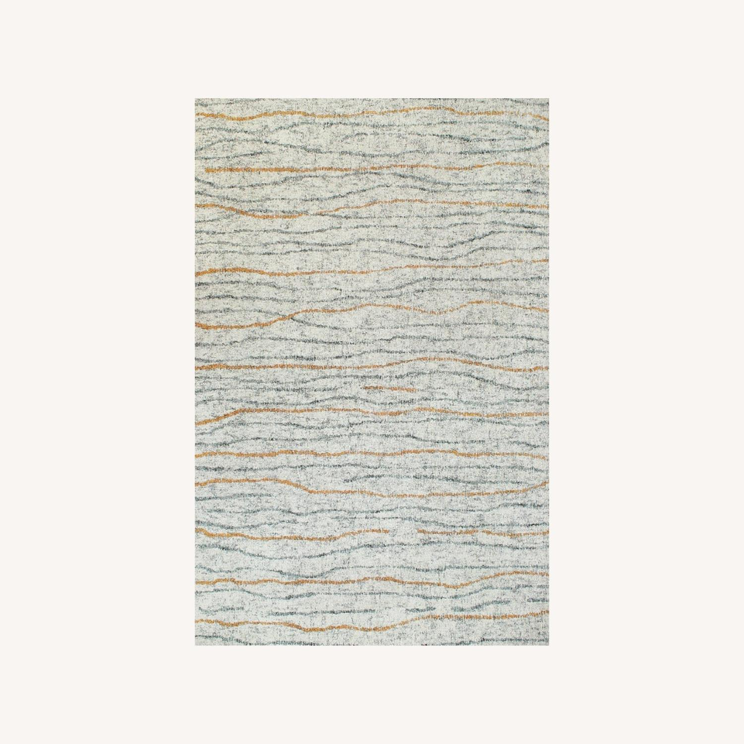 Contemporary Hand-tufted Wool Rug - image-0