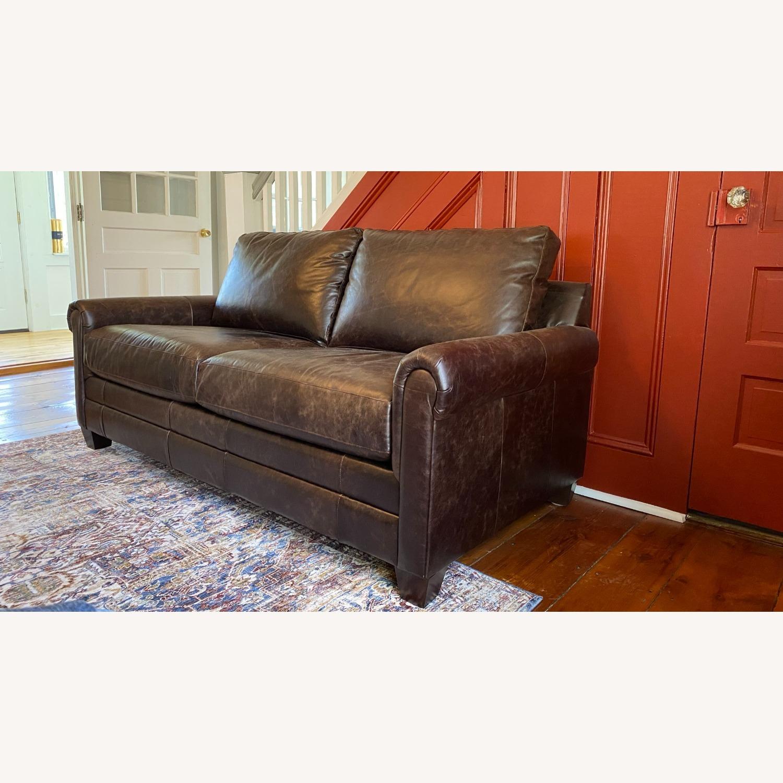 Bassett Leather Sleeper Sofa - image-2