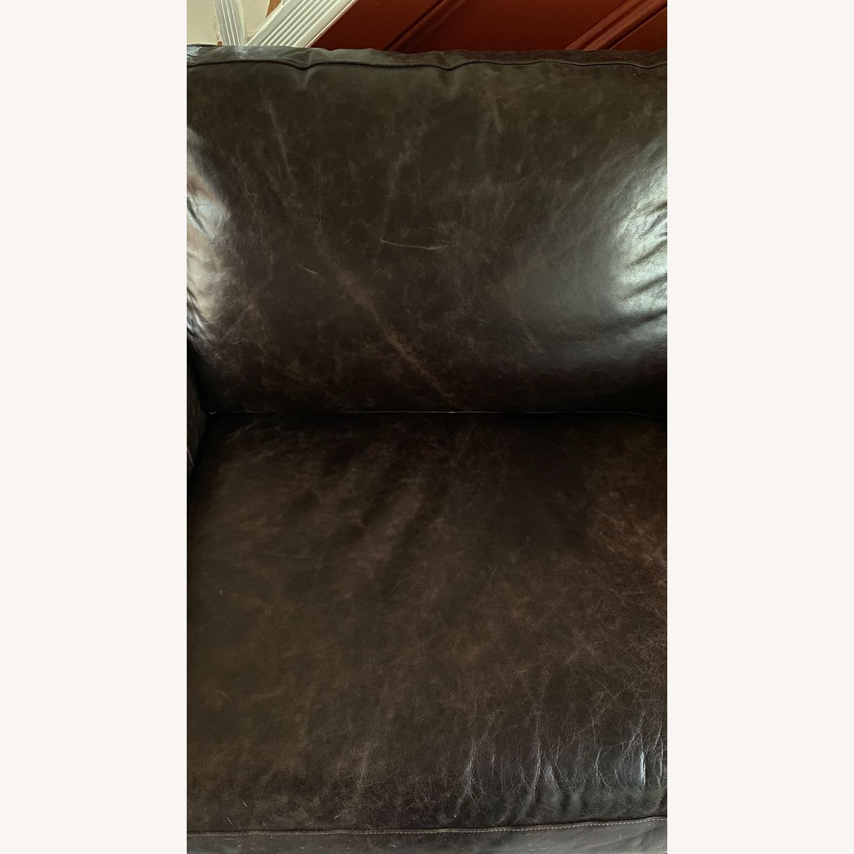 Bassett Leather Sleeper Sofa - image-3