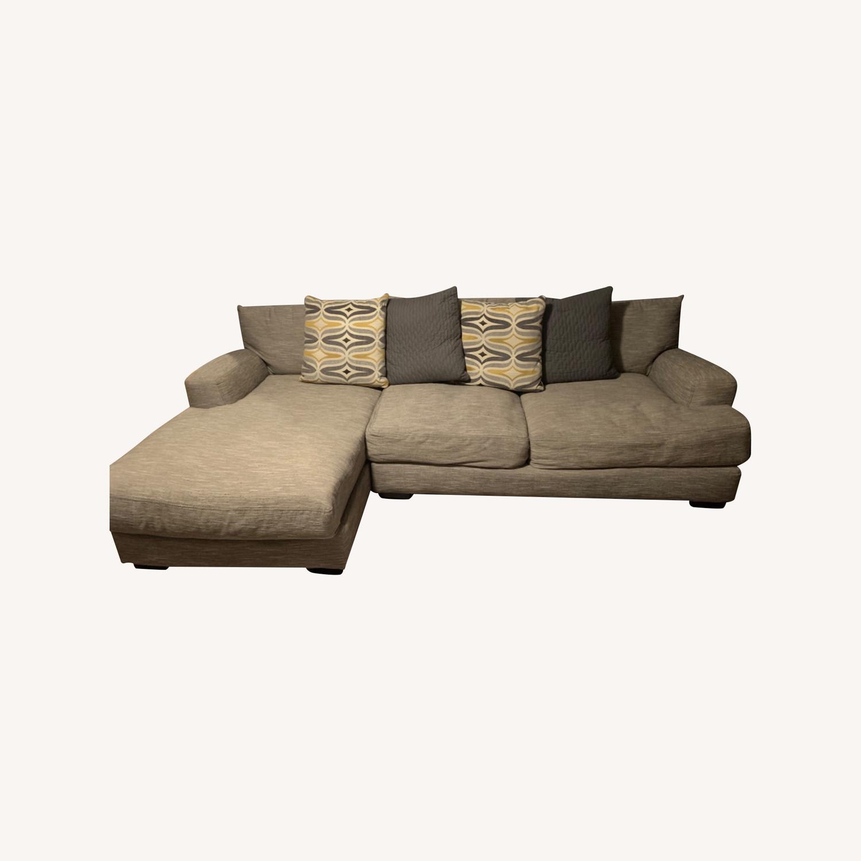 Raymour & Flanigan 2 piece Sectional Sofa - image-0