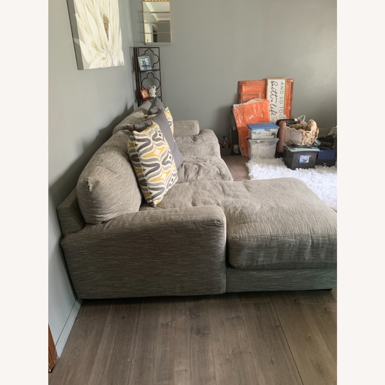 Raymour & Flanigan 2 piece Sectional Sofa - image-2