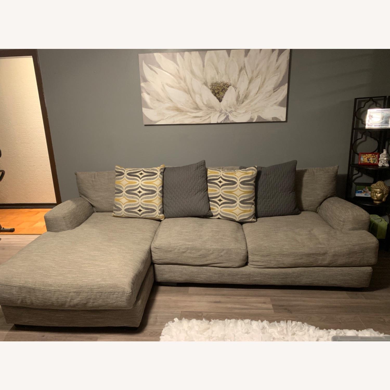 Raymour & Flanigan 2 piece Sectional Sofa - image-1