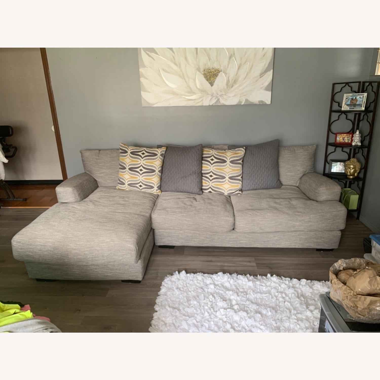 Raymour & Flanigan 2 piece Sectional Sofa - image-3