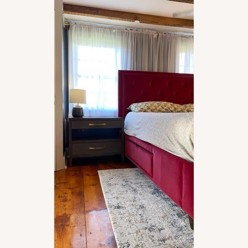 Used Bassett Red Velvet Bed for sale on AptDeco