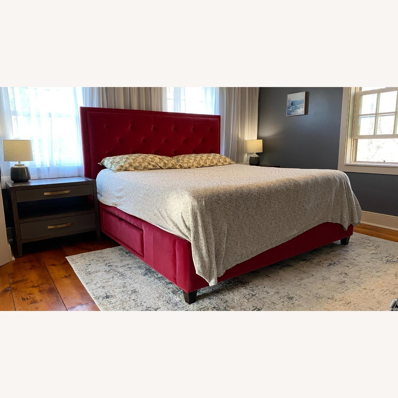 Bassett Red Velvet Bed - image-1