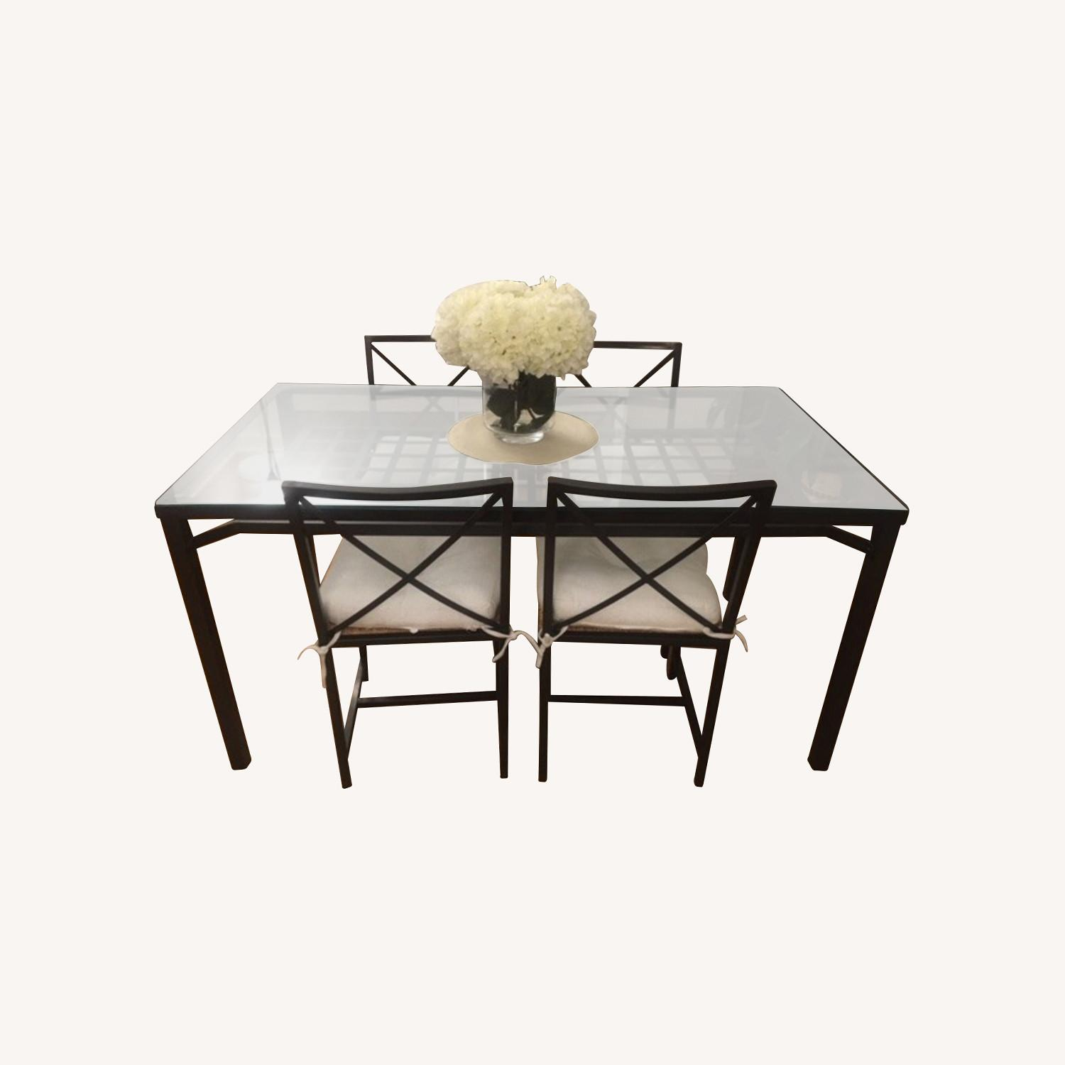 IKEA Glass Table+4Chairs - image-0