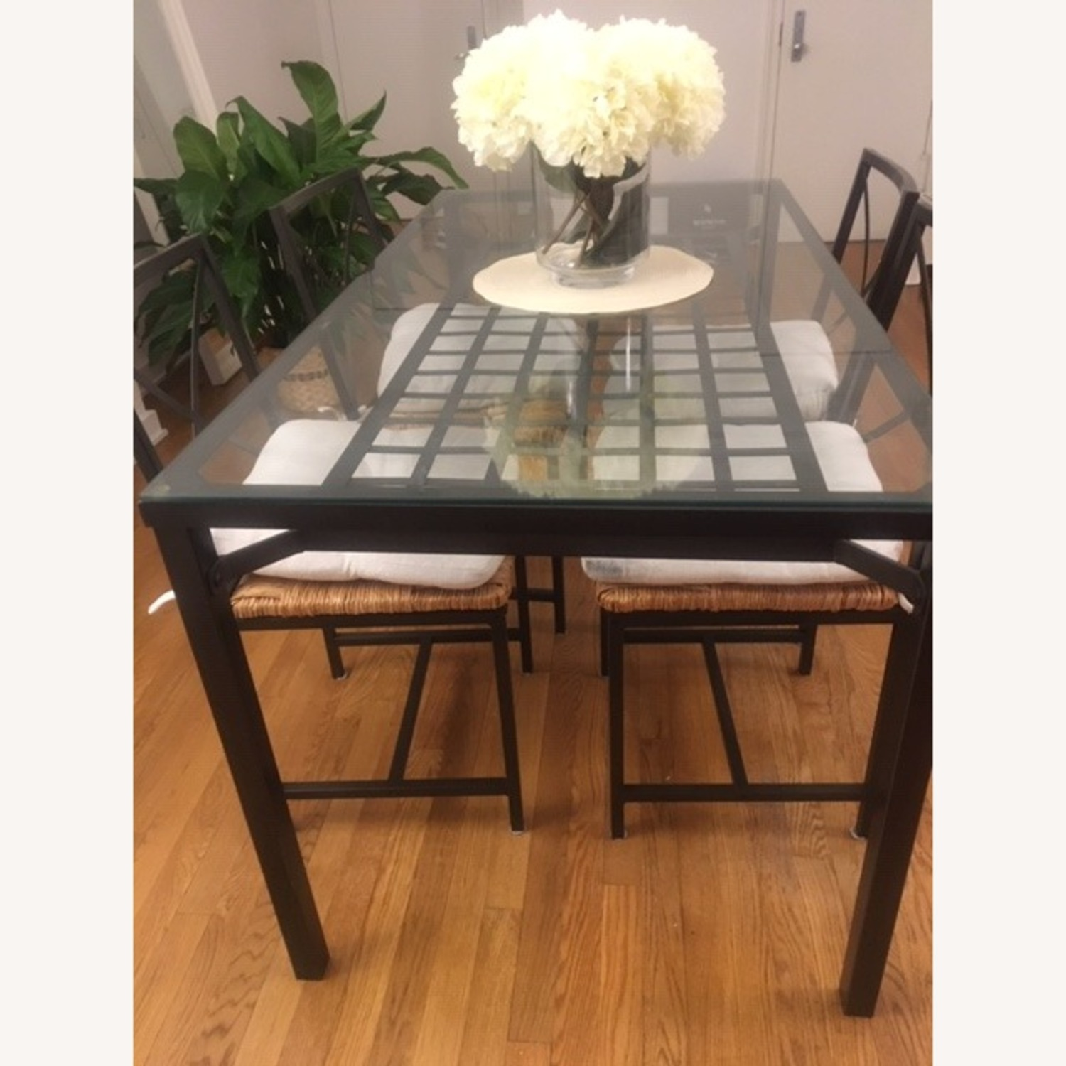 IKEA Glass Table+4Chairs - image-2