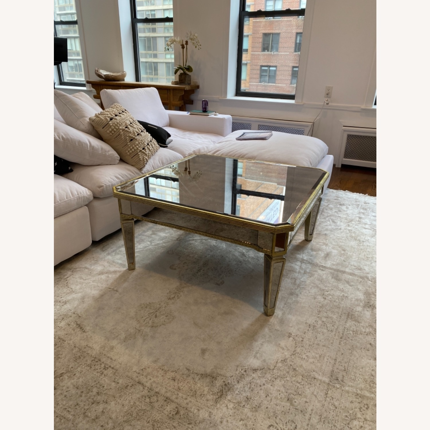 Lillian August Mirrored Coffee Table - image-4
