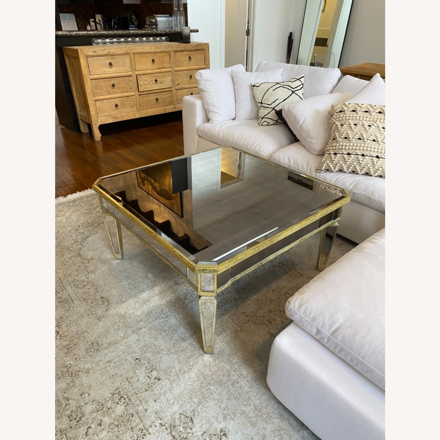 Lillian August Mirrored Coffee Table - image-6