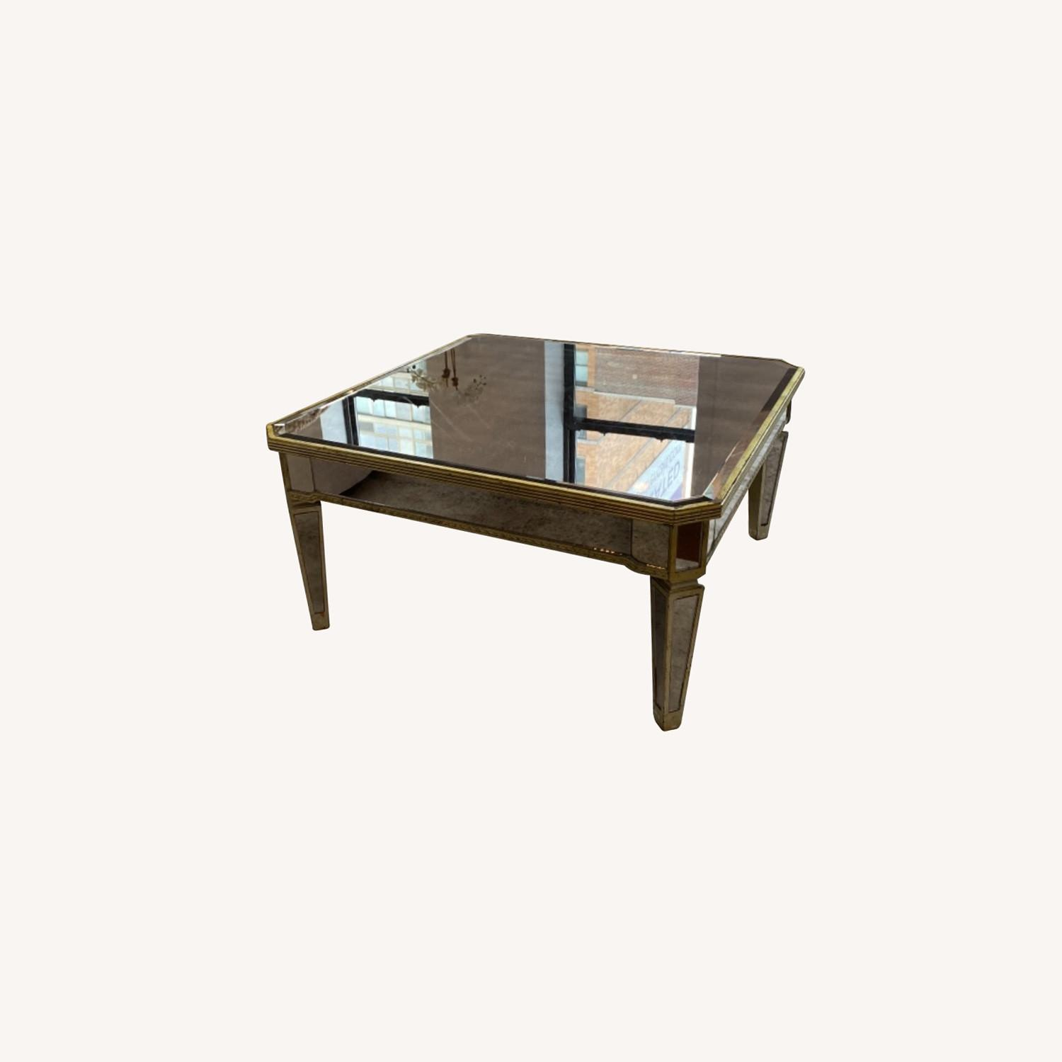 Lillian August Mirrored Coffee Table - image-0