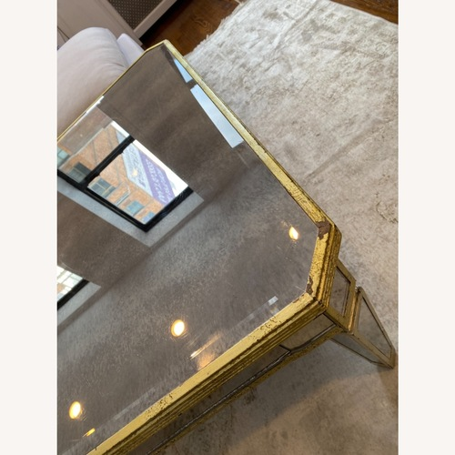 Used Lillian August Mirrored Coffee Table for sale on AptDeco