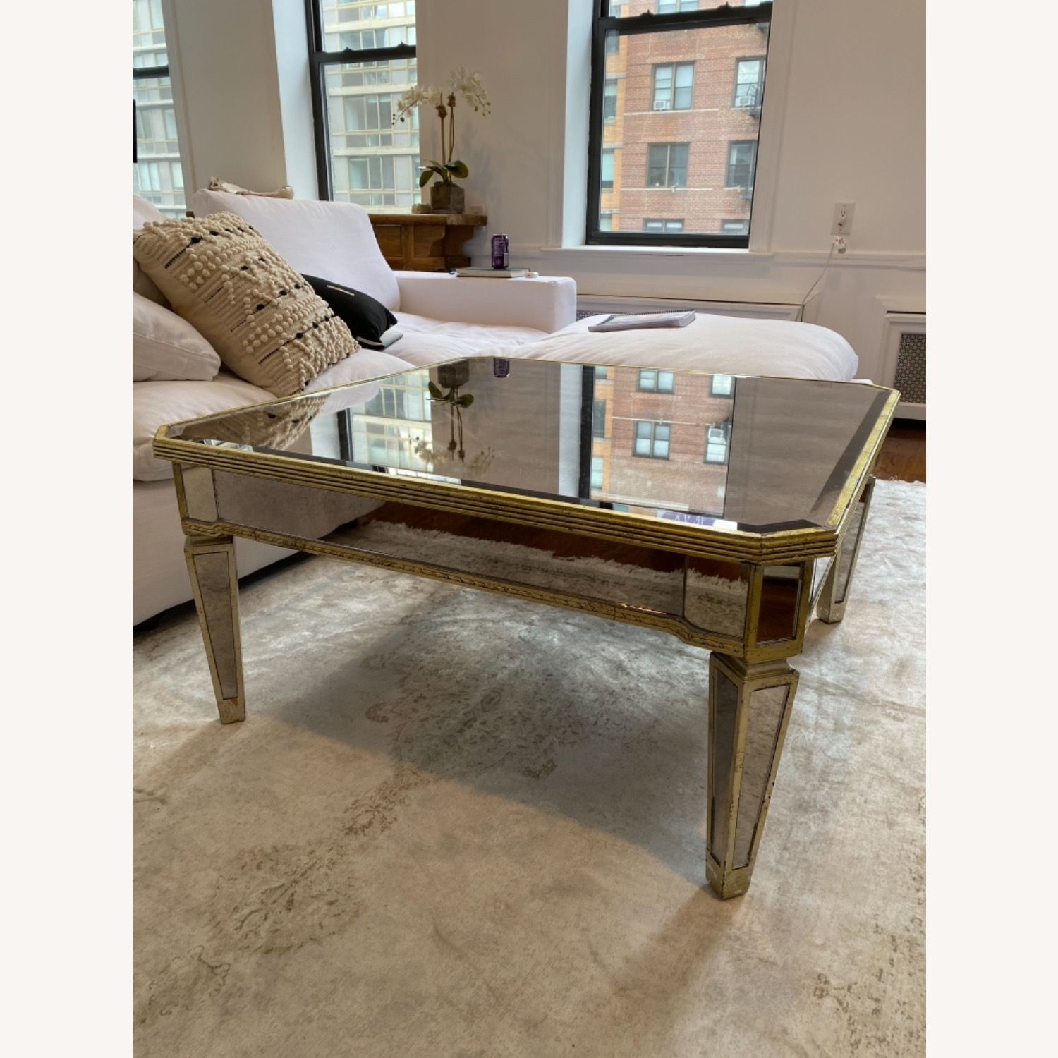Lillian August Mirrored Coffee Table - image-1