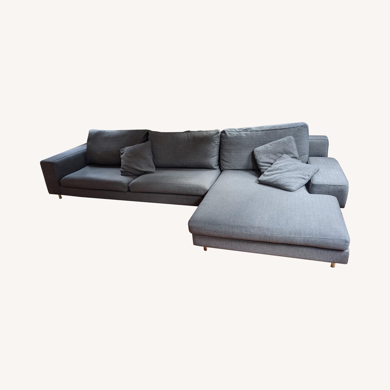 Modern Modular Sofa -Grey Fabric - image-0