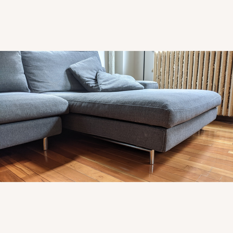Modern Modular Sofa -Grey Fabric - image-6