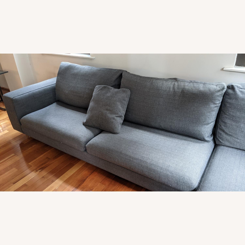 Modern Modular Sofa -Grey Fabric - image-4