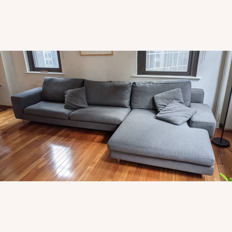 Modern Modular Sofa -Grey Fabric - image-2